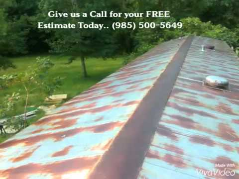 aluminum coating a mobile home roof youtube - Mobile Home Roof Coating