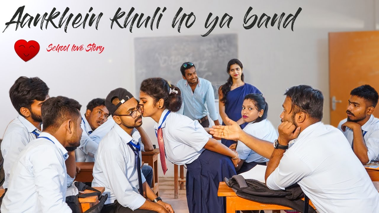 Aankhein khuli ho ya band | Romantic School Love Story |Ft. Surya & Diya | Surya Creation