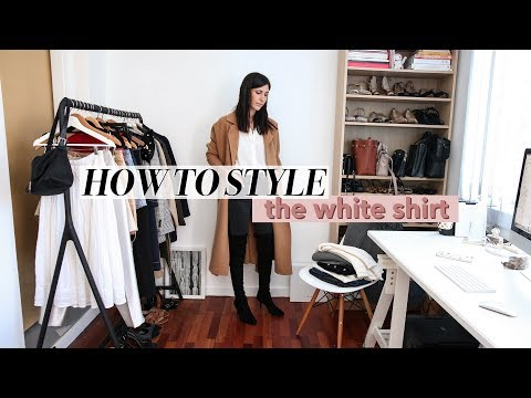 HOW TO STYLE A WHITE SHIRT - 20 Outfit Ideas   Mademoiselle