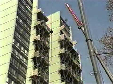 Dangling balcony 5999 Monkland on CTV News