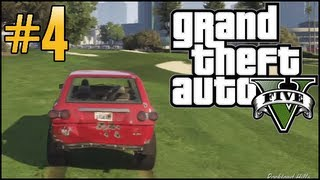 GTA V Free Roam - Part 4 - Taking the Chase to the Golf Course!