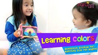 Download Video Learning Colors | Zara dan Kenzo Membuat Tempelan Kulkas Rainbow dari Modelling Clay dan Magnet MP3 3GP MP4