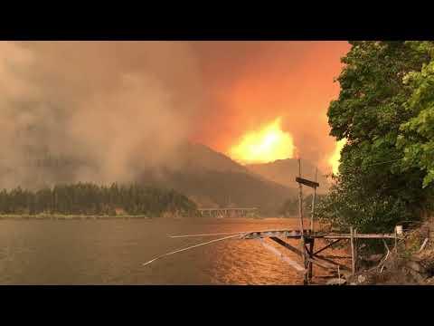 Cascade Locks Oregon forest fire 9/4/17
