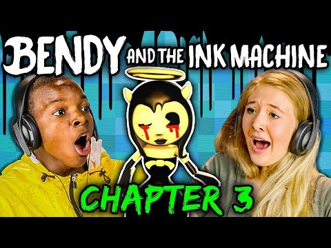 DISNEY NIGHTMARE! | Bendy and the Ink Machine: Chapter 3 [Part 1 of 2] (Teens React: Gaming)