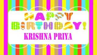 KrishnaPriya   Wishes & Mensajes - Happy Birthday