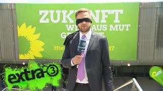Mit verbundenen Augen auf dem Parteitag der Grünen