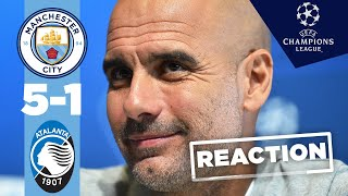PEP GUARDIOLA REACTION | MAN CITY 5-1 ATALANTA | UEFA CHAMPIONS LEAGUE