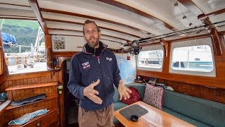 Sailing The World ~ One Man And His Sailboat ~ Full Tour Of His Tiny Home