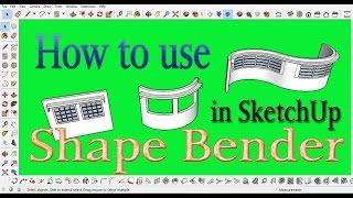 Video How to Use Shape Bender tool in SketchUp. स्केचअप  सीखें हिंदी में। download MP3, 3GP, MP4, WEBM, AVI, FLV Desember 2017