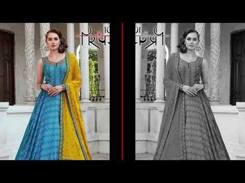 Parmpara Vol 3  Gown Dupatta Call 9428809808 Price Manufacturer Wholesaler Ahmedabad Surat Gujarat