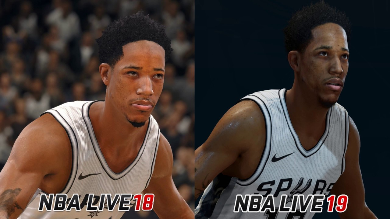 NBA Live 19 Player Ratings and Live 19 vs Live 18 Graphics Comparison