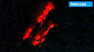 Actividad eruptiva del volcán de Fuego