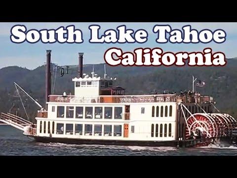 South Lake Tahoe California Paddlewheel Boat Cruising - Lakes River Paddlewheeler Ship Cruises Video