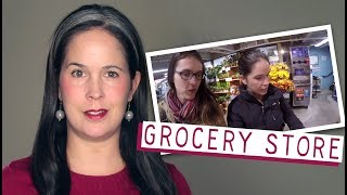 ENGLISH CONVERSATION – GROCERY STORE