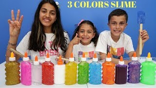 3 COLORS OF GLUE SL ME CHALLENGE Family Fun Video