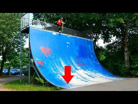 10 YEAR OLD VS BIGGEST HALFPIPE IN GERMANY!