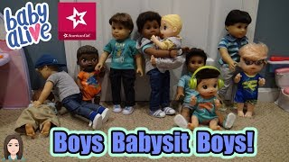 American Boys Babysit Baby Alive Boys! | Kelli Maple