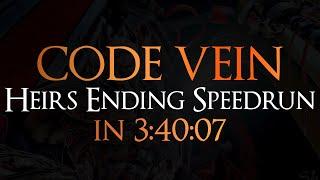 Code Vein - Heirs Ending Speedrun in 3:40:07 (Test Run)