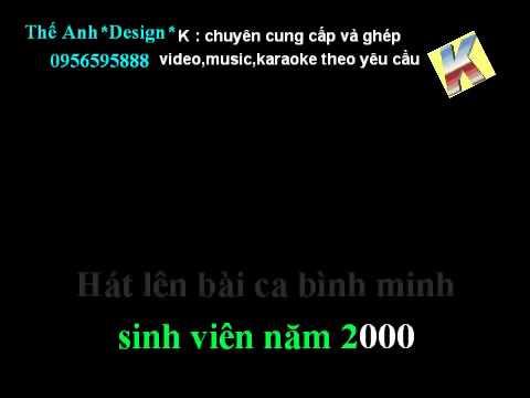 BINH MINH SINH VIEN NAM 2000 - BUC TUONG - karaoke beat (demo).avi