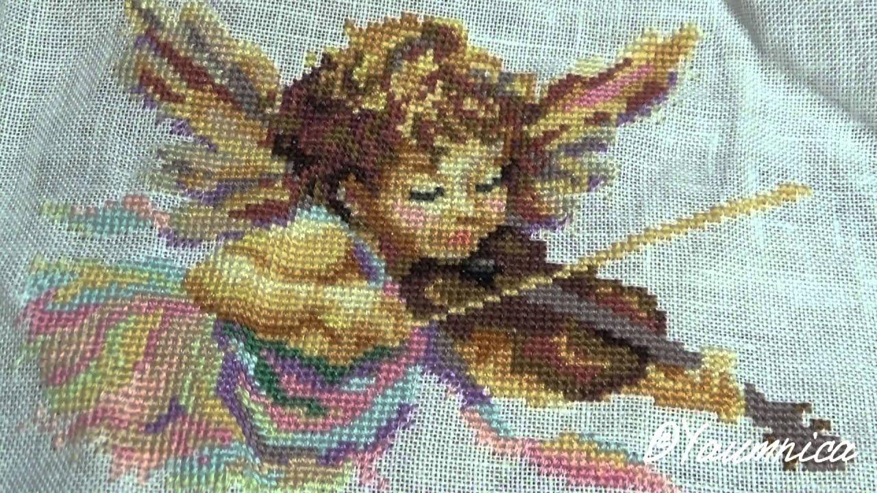 вышивки крестом схемы ангел