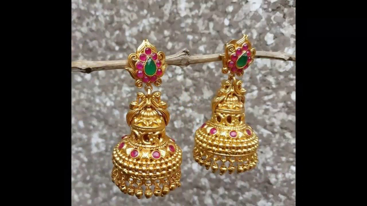 Latest Gold Earring Pinjada Designs With Weight And Price