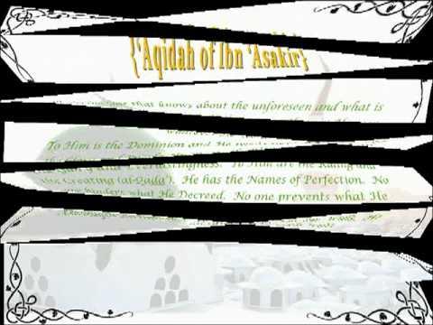 Aqidah (Creed) of Ibn Asakir