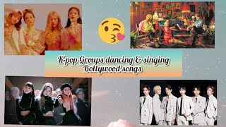 K-pop groups dancing and singing Bollywood songs