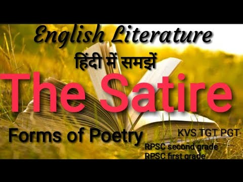 The Satire,forms of poetry in English literature, PGT,TGT,NET all teaching exam.