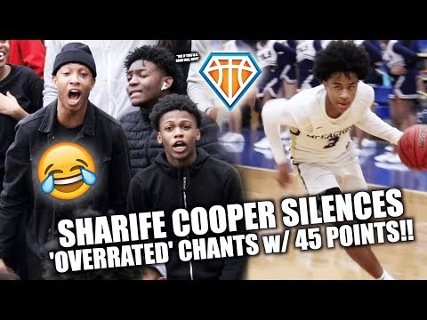 FANS CALL SHARIFE COOPER OVERRATED WHEN HE ALREADY HAD 37 PTS!! 😂😭 | Drops 45 in HEATED RIVALRY
