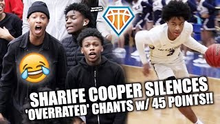 Sharife Cooper RESPONDS TO 'OVERRATED' CHANTS with 45 POINTS!! | Rival Fans GET HEATED