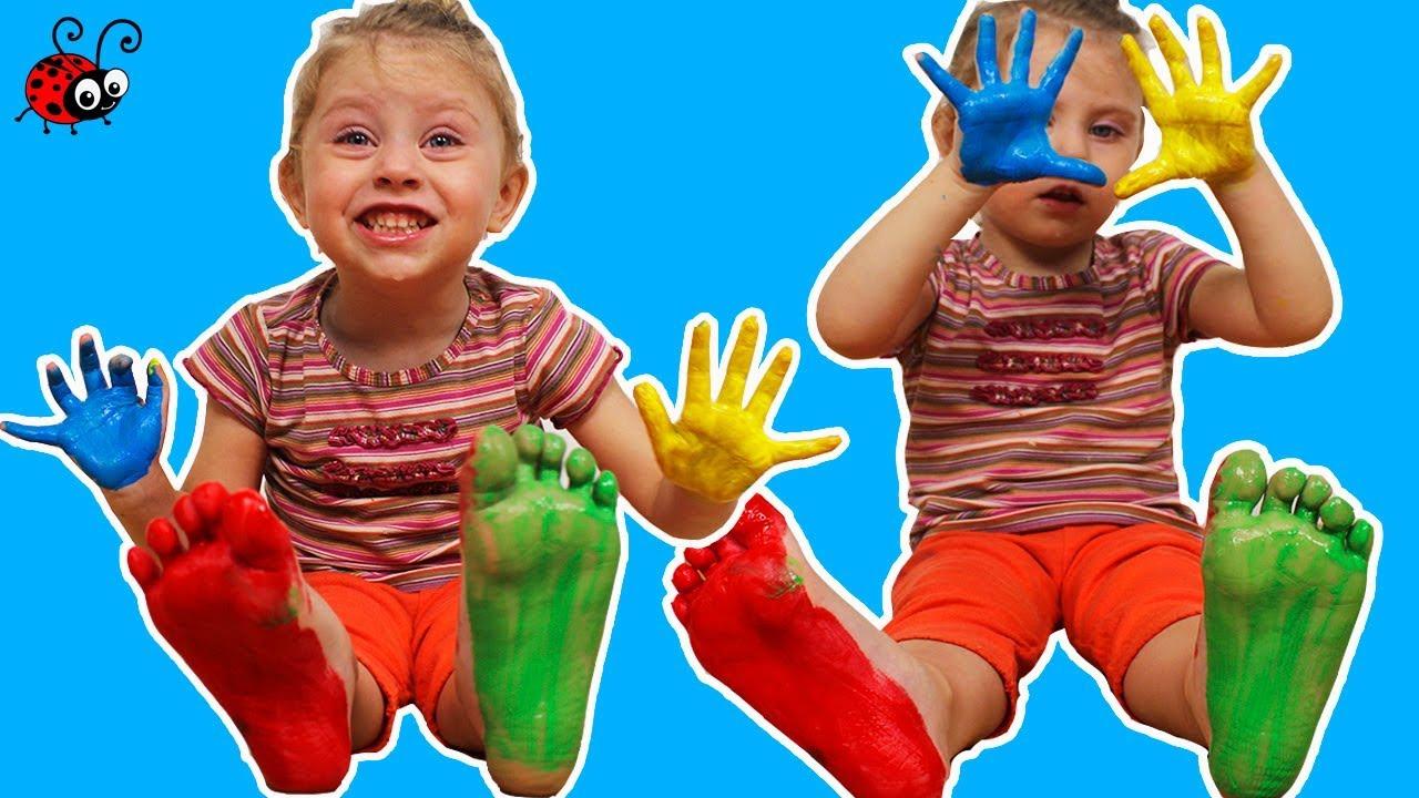 Incercam Vopselele pentru Degetele procurate din Magazin | Video Educativ | Invatam Culorile