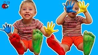 Incercam Vopselele pentru Degetele procurate din Magazin   Video Educativ   Invatam Culorile