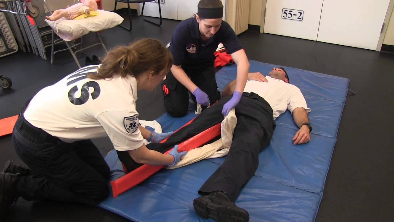 fracture care of lower extremity testing station emt