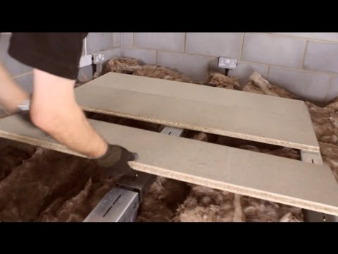 How To Board A Loft Above The Insulation Youtube