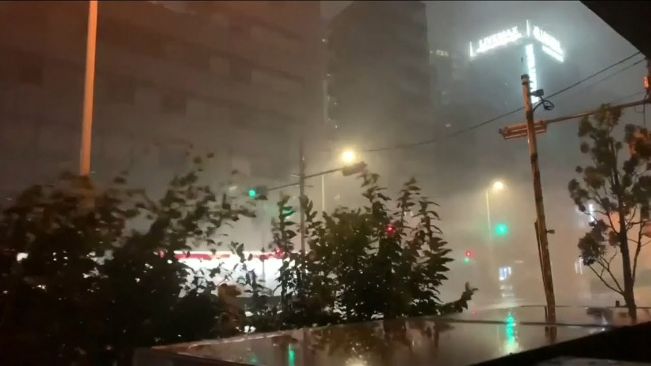 Powerful typhoon makes landfall in Japan as earthquake strikes