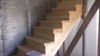 как сделать прямую лестницу на второй этаж своими руками