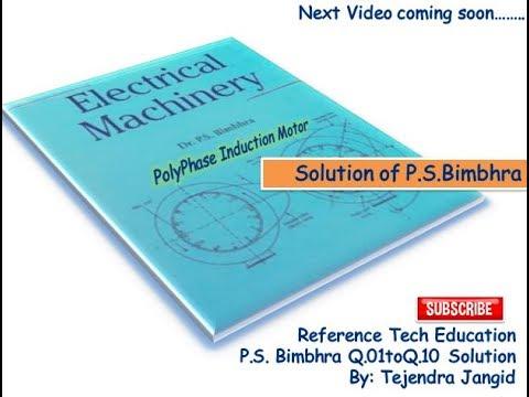 electrical machines ps bimbhra free  pdf