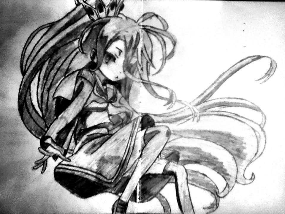 Speed Drawing Anime Shiro (No Game No Life) YouTube