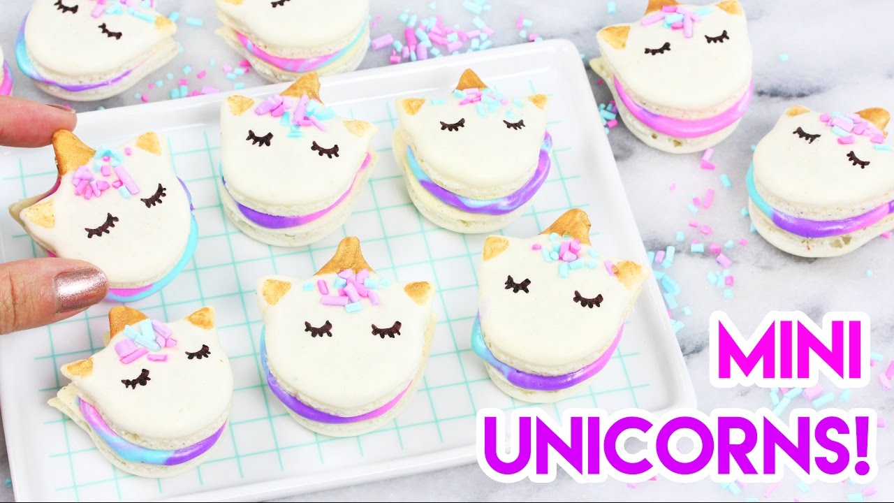 How To Make Mini Unicorn Macarons