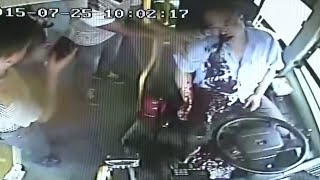 Driver Pulls over Bus Safely before Spitting Blood, Losing Consciousness