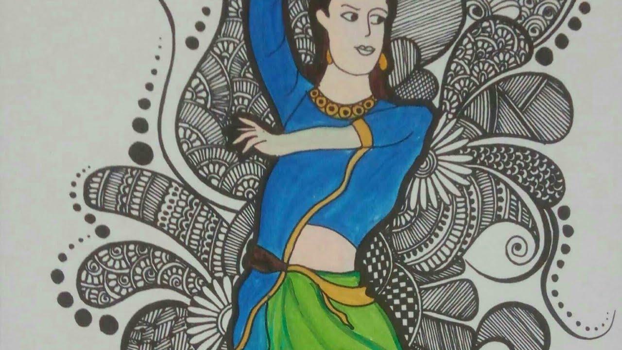 #mandaladancegirl #watercolour  Watercolour Painting   Creative Palette