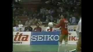 1986 WCH Volleyball Women`s Bronze Peru vs E Germany