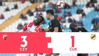 Crvena zvezda - Čukarički 3:1 | Superliga Srbije | Pregled utakmice