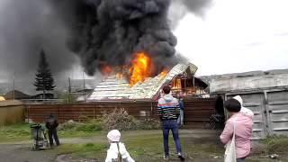 пожар в Первомайском районе г.Новосибирск