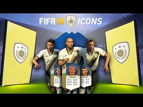 FIFA 18 ICONS! MULTIPLE VERSIONS w/ 94 RONALDINHO & 96 RONALDO!