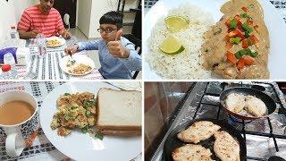 Breakfast to Dinner Routine - Creamy Lemon Chicken, Custard, Omelette in Urdu/Hindi