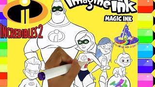 Marcador Mágico de Los Increibles 2 Rotulador Mágico Revela los Súper Heroes Increibles y Juegos Sor