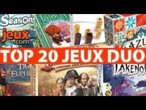 Top 20 des jeux de société à deux