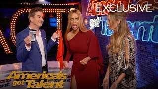 Illusionist Adam Trent Wows Heidi Klum and Tyra Banks - America's Got Talent 2018