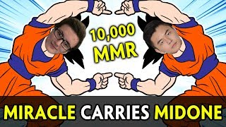Miracle and MidOne carry each other to 10,000 MMR
